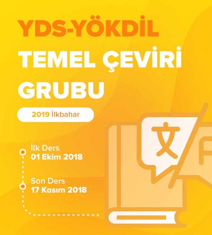 2019 İlkbahar Temel Akademik Çeviri