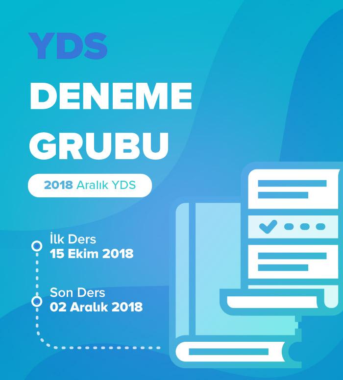 2018 Aralık YDS Deneme Grubu