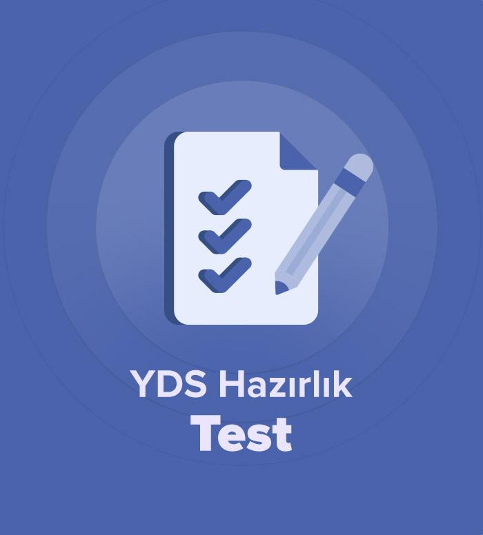 2019 İlkbahar YDS Hazırlık Test