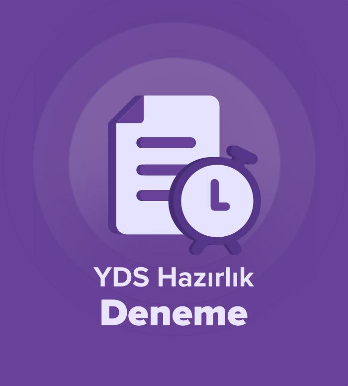 2019 İlkbahar YDS Hazırlık Deneme