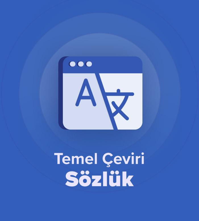 2019 İlkbahar Temel Akademik Çeviri Sözlük