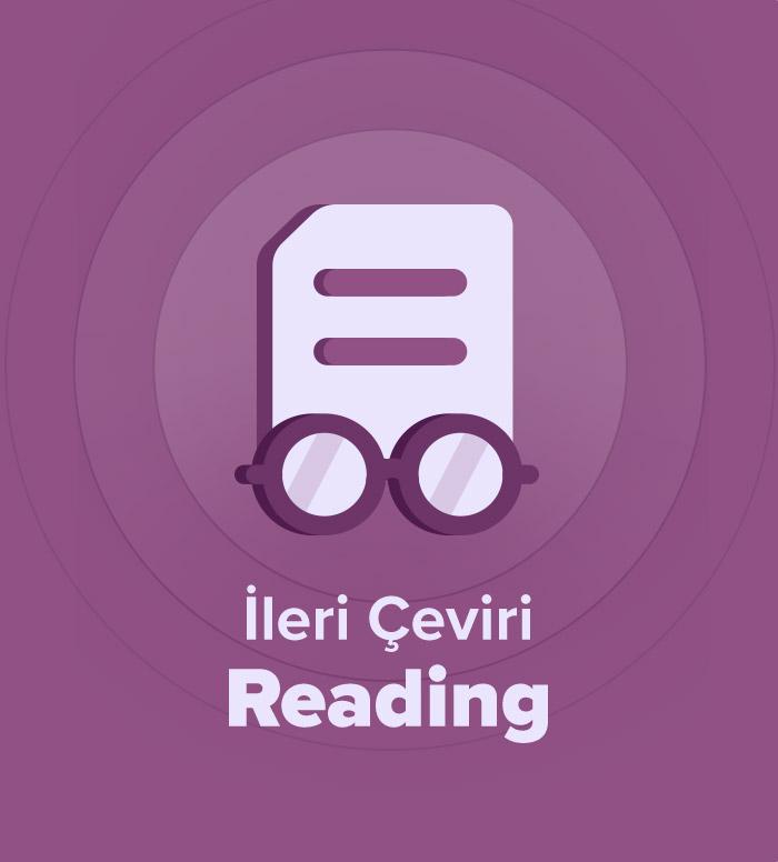 2019 İlkbahar İleri Akademik Çeviri Reading