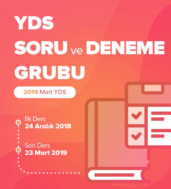 2019 Mart YDS Soru ve Deneme Grubu