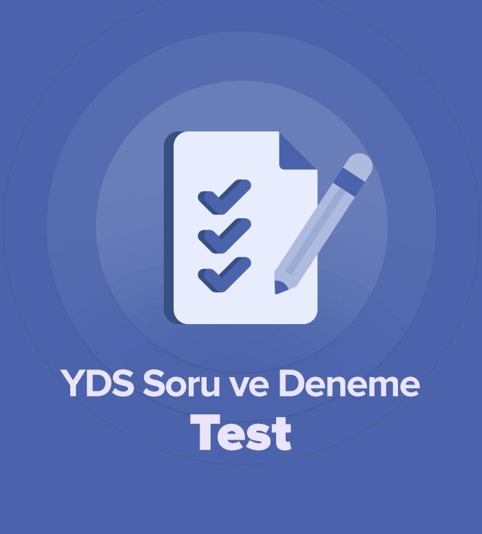 2019 Mart YDS Soru ve Deneme Grubu Test