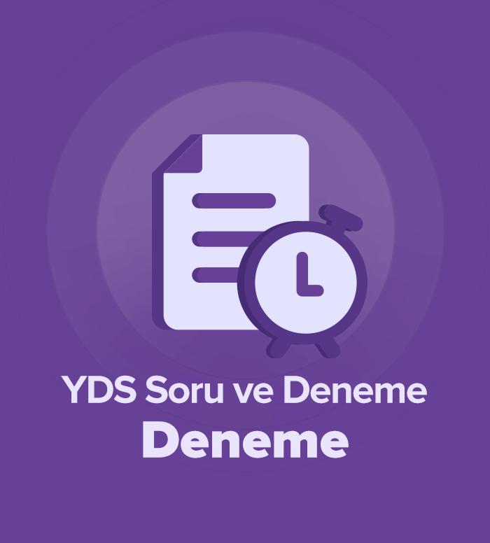 2019 Mart YDS Soru ve Deneme Grubu Deneme