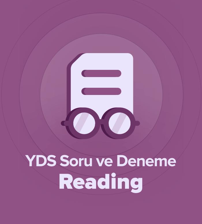 2019 Mart YDS Soru ve Deneme Grubu Reading