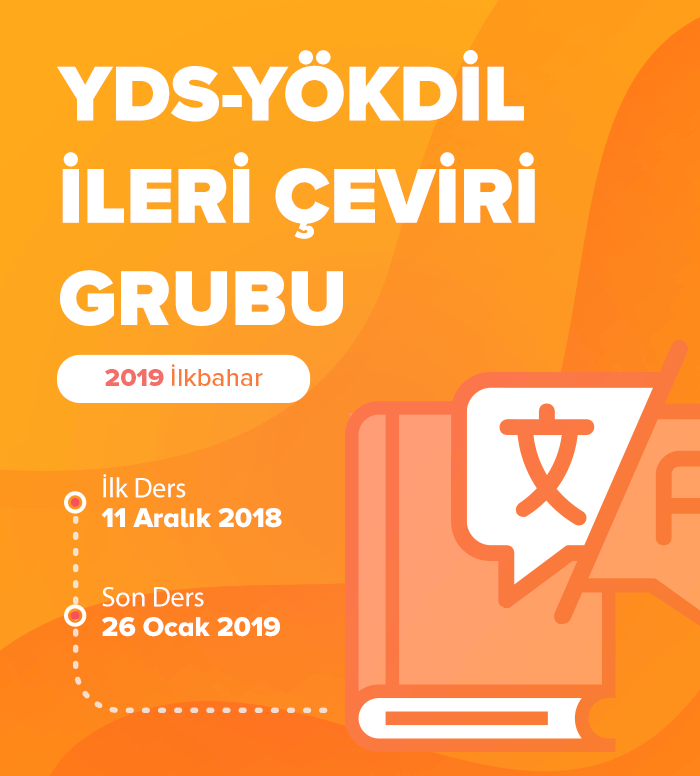 2019 İlkbahar İleri Akademik Çeviri