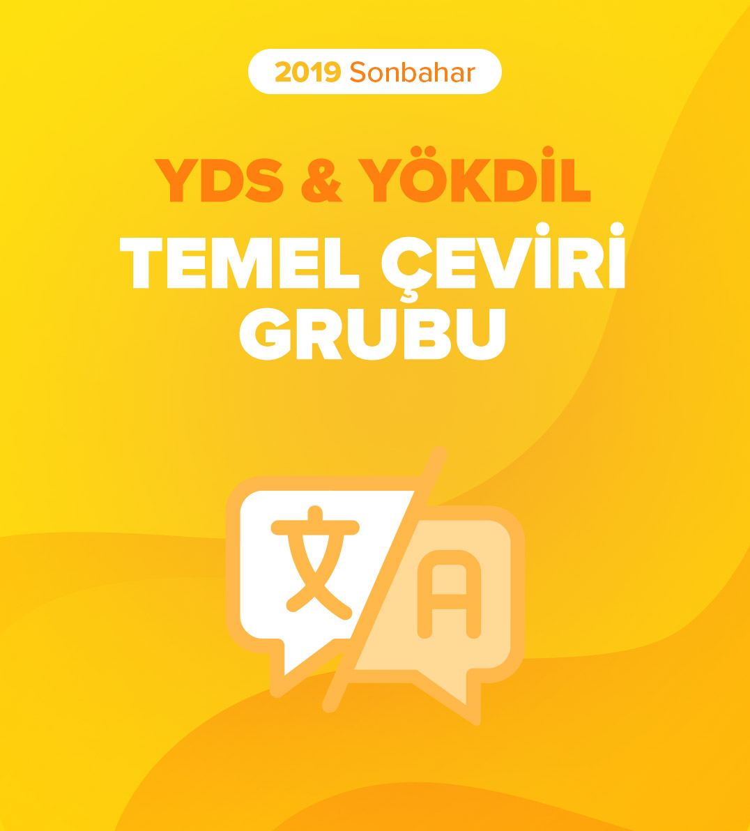 2019 Sonbahar Temel Akademik Çeviri