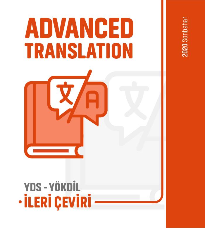 2020 Sonbahar İleri Çeviri Advanced Translation Ders Notu