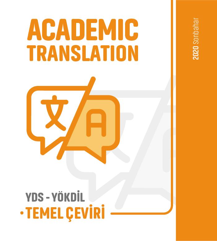 2020 Sonbahar Temel Çeviri Academic Translation Ders Notu