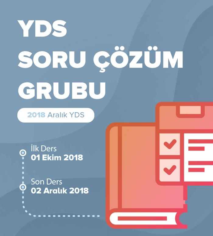 2018 Aralık YDS Soru Çözüm Grubu