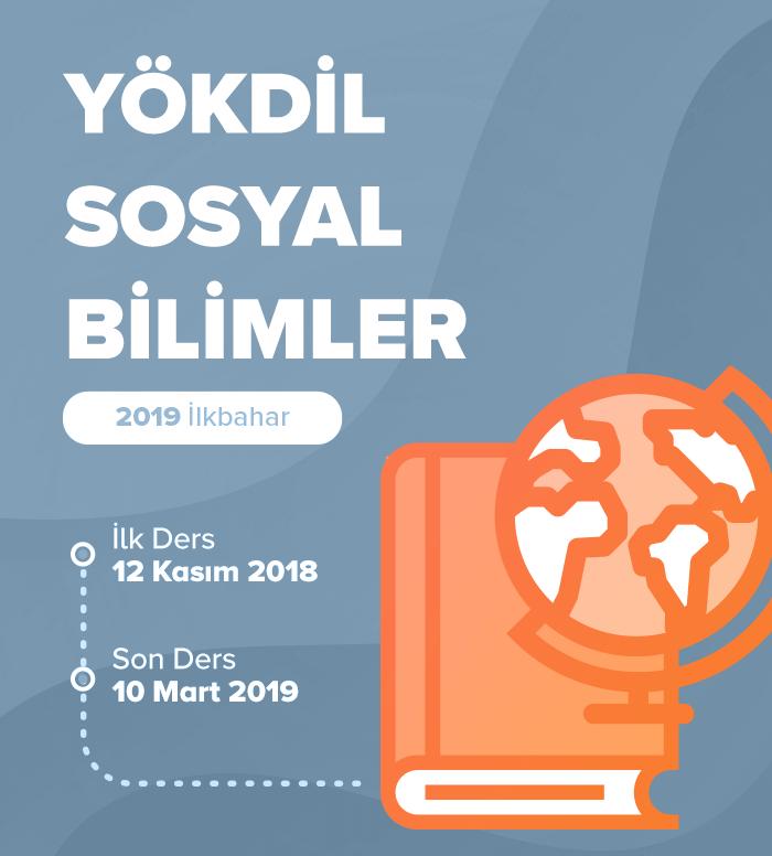 2019 İlkbahar YÖKDİL Sosyal Bilimler